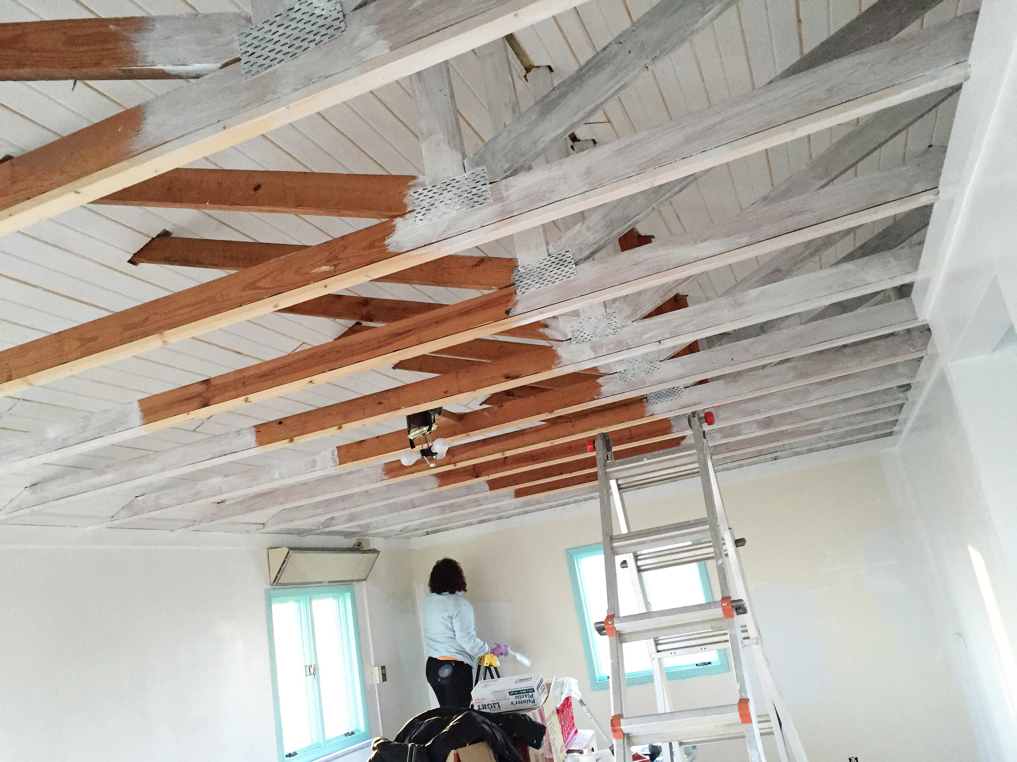 Studio Renovation: Planked Ceiling (post 3 Of 4)