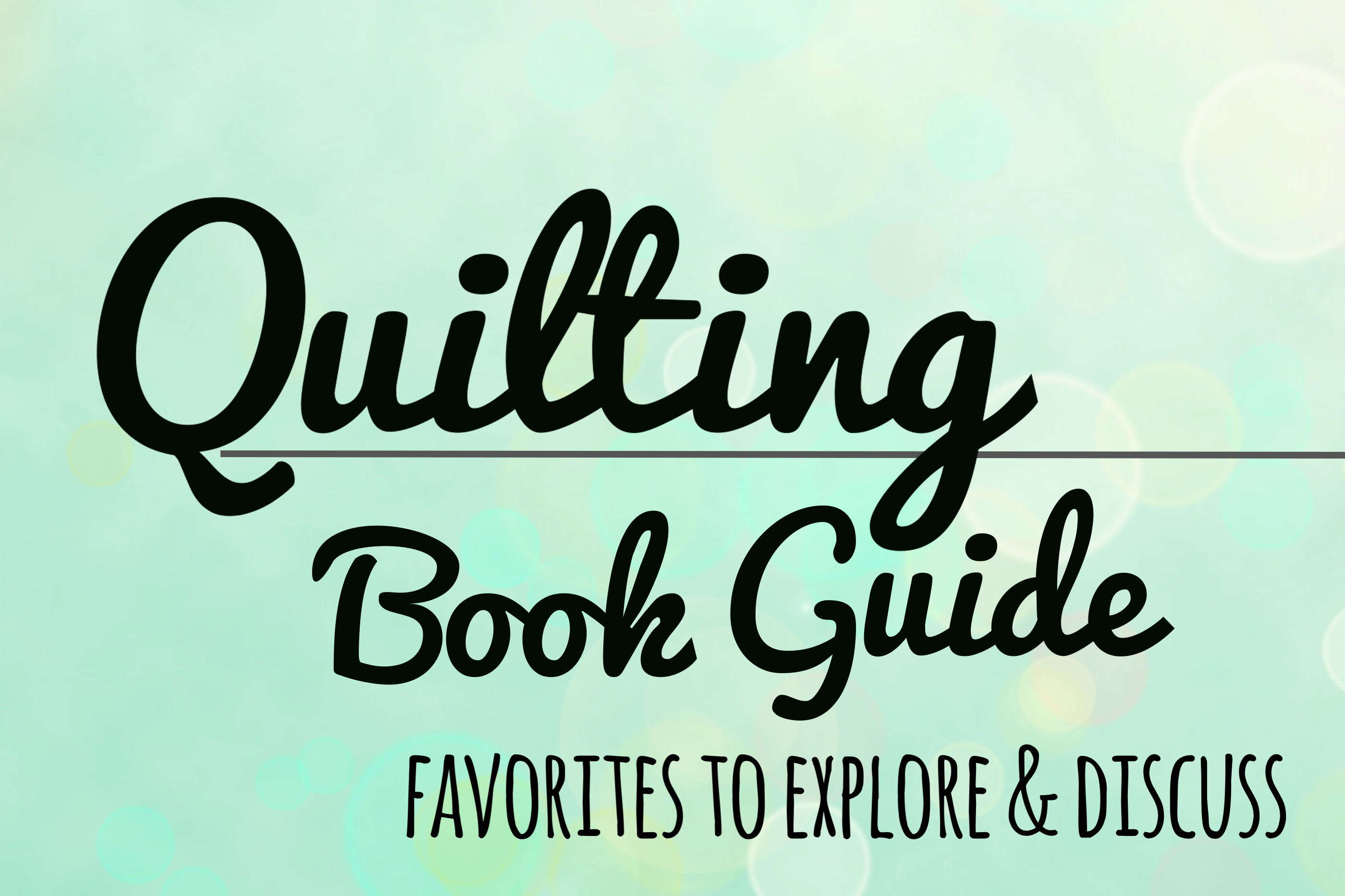 Link to Rossie's quilting book guide